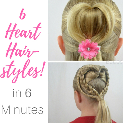6 Heart Hairstyles in 6 Minutes   Valentine's Day