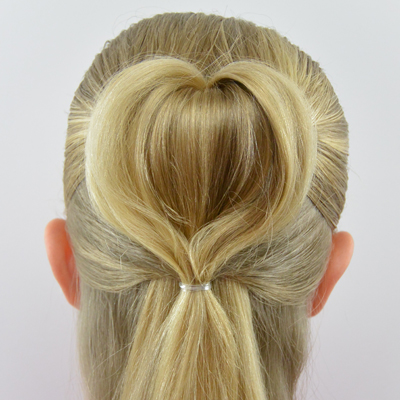 Half-Up 3D Heart Hairstyle   Valentine's Day Hairstyle