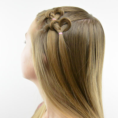 Knotted Hearts   Valentine's Day Hairstyle