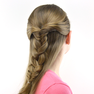 Half Up Combo Braid