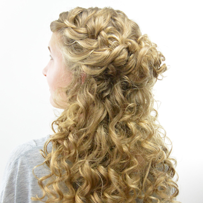 Half-Up Style for Curly Hair