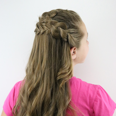 Half Up Braided Style