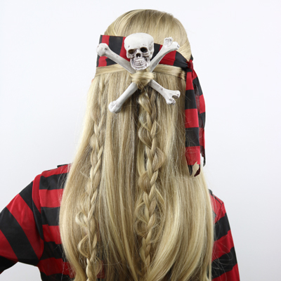 Skull & Crossbones Pirate Hair | Halloween Hairstyle ... - photo#24