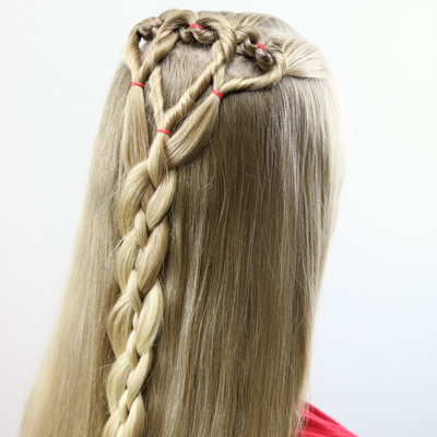 Triple Hearts and Braid | Valentine's Day Hairstyle