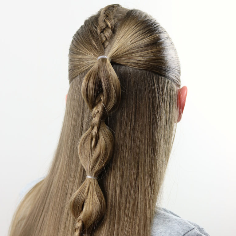 Little Girl Hairstyle Youtube: Peek-A-Boo French Braid Hairstyle For Teens, Tweens And
