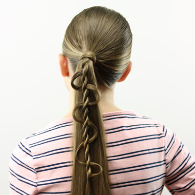 Weaving Twist and Ponytail