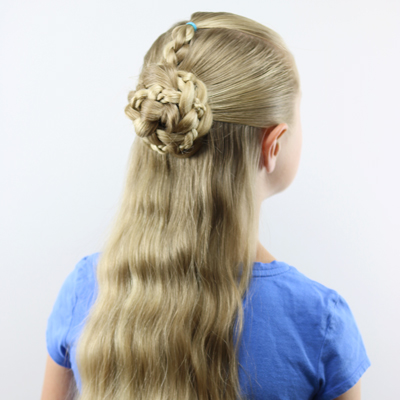 Half-Up Braids and Bun