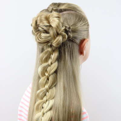 Braid & Knot Half-Up Combo | Back-to-School Hairstyle