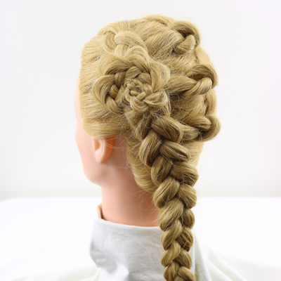 Dutch Braid Knot Combo Hairstyle