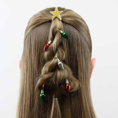 Twisted Christmas Tree Hairstyle