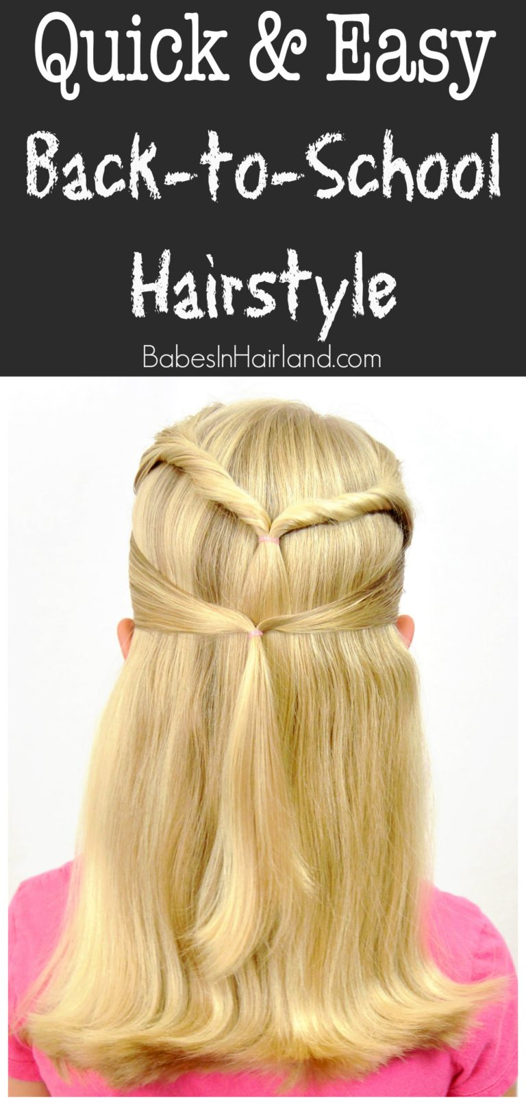 Quick & Easy Back to School Hairstyle Babes In Hairland