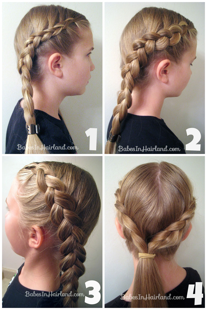 Rapunzel Hair With Extensions From Sinhairland; Easy French Braid  Ponytail Hairstyle