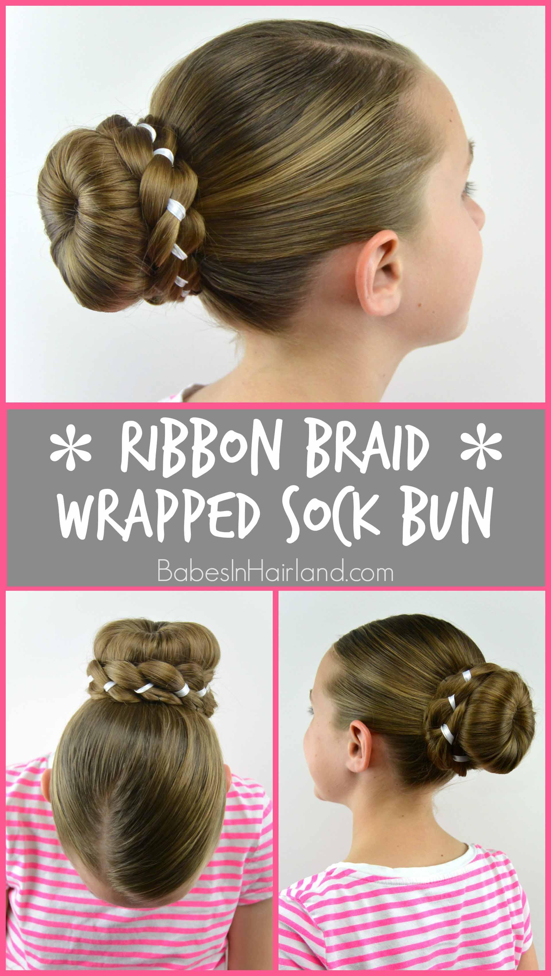 Fine Ribbon Braid Wrapped Sock Bun Babes In Hairland Hairstyles For Women Draintrainus