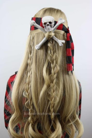 Skull Amp Crossbones Pirate Hair Halloween Hairstyle