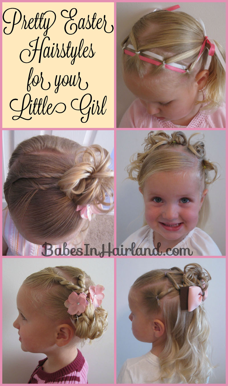 Marvelous 5 Pretty Easter Hairstyles Babes In Hairland Hairstyles For Women Draintrainus
