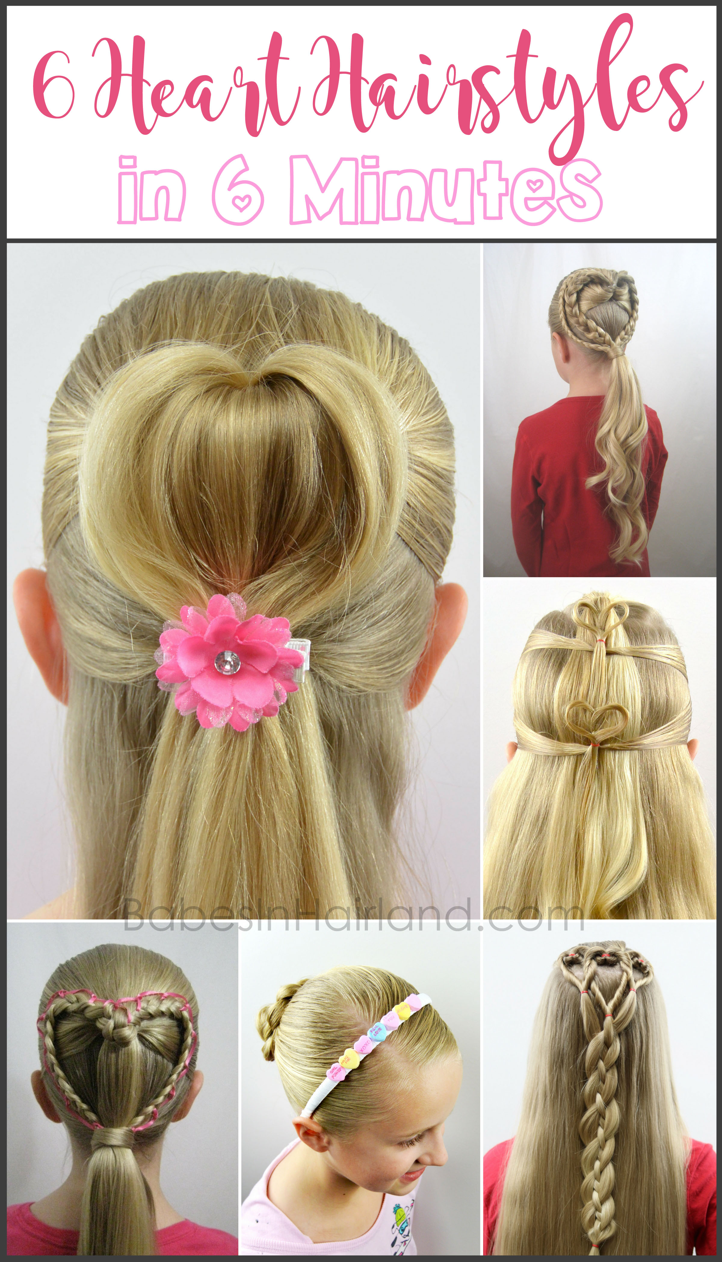 6 Heart Hairstyles In 6 Minutes Valentine S Day Hairstyles