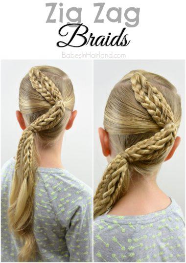 Zig Zag Braids from BabesInHairland.com #hair #braids #ponytail # ...