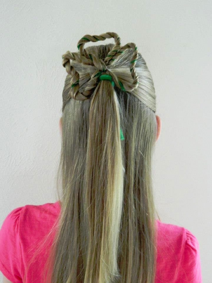 Awe Inspiring St Patrick39S Day Hair Lucky Clover Hairstyle Babes In Hairland Short Hairstyles For Black Women Fulllsitofus