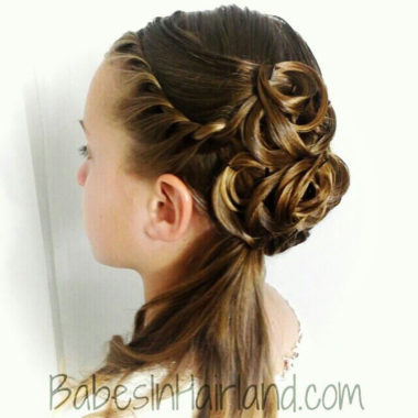 Elegant Half-Updo from BabesInHairland.com