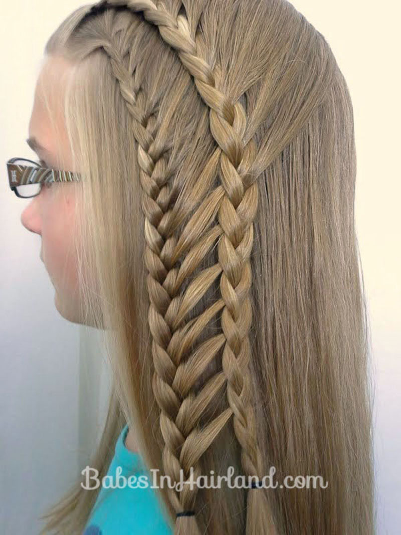Double Half French Ladder Braids Babes In Hairland