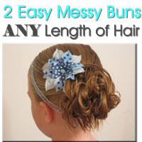 Easy Messy Buns for Short to Long Hair (2)