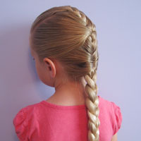 French Braid Cheat from BabesInHairland.com (1)