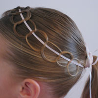 Ribbon and Chains Hairstyle (23)