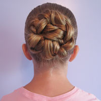 Double Braided Bun for Shorter Hair from BabesInHairland.com (7)
