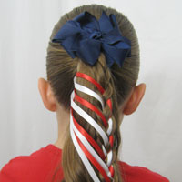 Patriotic Ladder Braid from BabesInHairland.com (17)