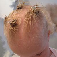 baby bantu knots buns