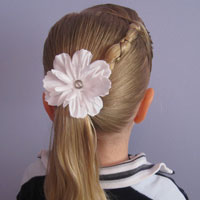 Uneven Braid, Pony & Poof (13)