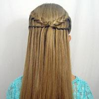 Feather Braid & Waterfall Twist