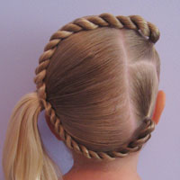 Letter C Hairstyle Babes In Hairland