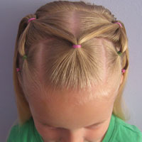 7 Little Ponies Hairstyle