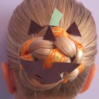 Halloween Hair - Jack O' Lantern Bun (10)