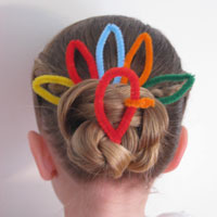 Cute Turkey Bun Hairstyle (12)