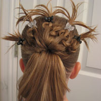 Knotted Peacock Tail Hairstyle (1)