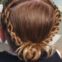 Rope Braids back to a Bun (9)