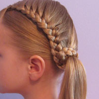 Lauren Conrad Inspired - Half French Braid Wrapped Ponytail (20)