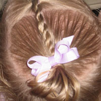Baby Rope/Twist Braid into Baby Pony (9)