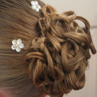 Knotted Pony Updo w/Hair Coils (15)