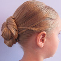 Criss Cross Twists into a Bun (15)