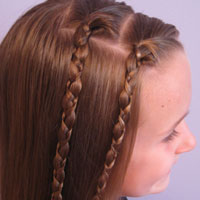 Quick & Easy Uneven Braids Hairstyle (5)
