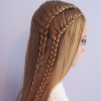 Double 1 Sided French Braids (7)