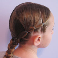 Puffy Braids into a Braid (1)