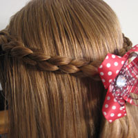 Simple 4 Strand Pullback Hairstyle (6)
