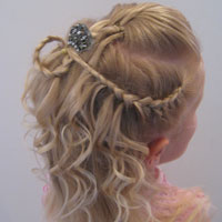 Cascade/Feathered Braid Hairstyle