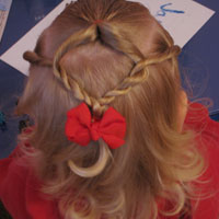 Baby Hairstyle - Twist Braids and Pull Throughs (9)