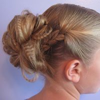 Crimped Braids and Messy Bun (11)