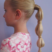 Hair Wrapped Bubble Ponytail (10)